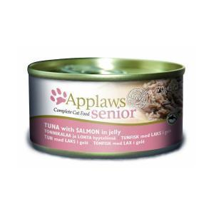 Applaws Senior Cat Tuna with Salmon in jelly консервы для пожилых кошек с тунцом и лососем 70 г х 24 шт