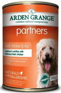 Arden Grange Partners Chicken & Rice консервы для собак с цыпленком и рисом 400 г