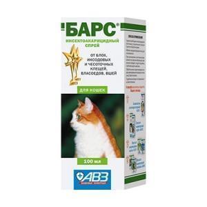 Барс cпрей инсектоакарицидный для кошек 100 мл
