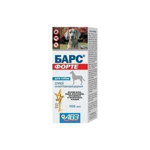 Барс Форте спрей инсектоакарицидный для собак 100 мл