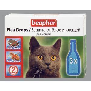 Beaphar Flea Drops for Cats капли от блох и клещей для кошек (2 пипетки)