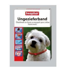 Beaphar Ungezieferband Red For Dogs красный ошейник от блох и клещей для собак 65 см