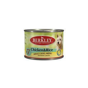 Berkley Chicken & Rice Adult Dog консервы для собак с цыпленком и рисом 200 г (6 штук)