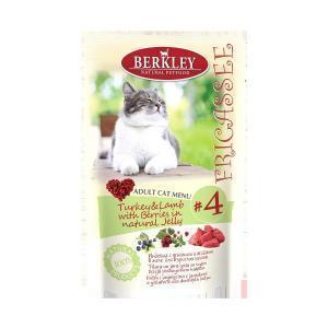 Berkley Fricasse Chicken консервы для кошек с курицей 100 г (12 штук)
