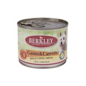 Berkley Game & Carrots Adult Dog консервы для собак с дичью и морковью 200 г (6 штук)