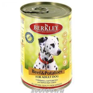 Berkley консервы для взрослых собак Говядина и картофель 400г