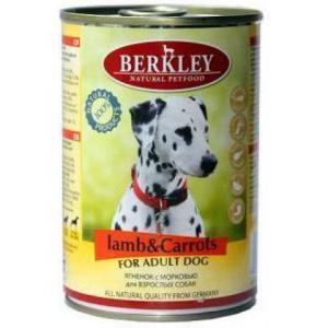 Berkley консервы для взрослых собак Ягненок и морковь 400г