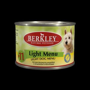 Berkley Turkey & Lamb light консервы для собак облегченный индейка и ягненок 200 г (6 штук)