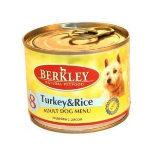 Berkley Turkey & Rice Adult Dog консервы для собак индейка с рисом 200 г