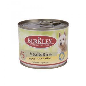 Berkley Veal & Rice Adult Dog консервы для собак с телятиной и рисом 200 г (6 штук)