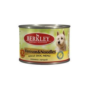 Berkley Venison & Noodles Adult Dog консервы для собак с олениной и лапшой 200 г (6 штук)