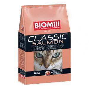 BioMill Cat Classic Salmon сухой корм для привередливых кошек и котят от 8 недель 10 кг