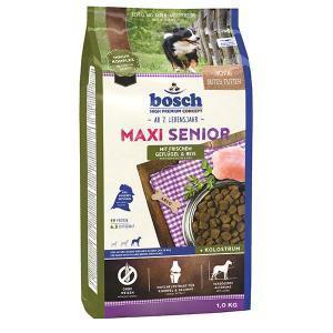 Bosch Maxi Senior сухой корм для пожилых собак крупных пород с птицей и рисом 12.5 кг