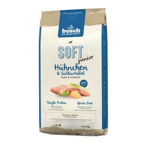 Bosch Soft Junior курица батат полувлажный корм Holistic+ для щенков с чувствительным пищеварением 12,5 кг