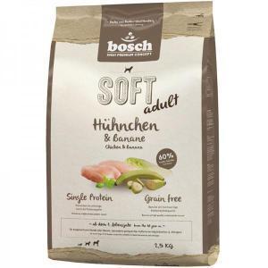 Bosch Soft курица банан полувлажный корм Holistic+ для взрослых собак с чувствительным пищеварением 12,5 кг