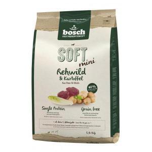 Bosch Soft Mini косуля картофель полувлажный корм Holistic+ для собак маленьких пород с чувствительным пищеварением 2,5 кг