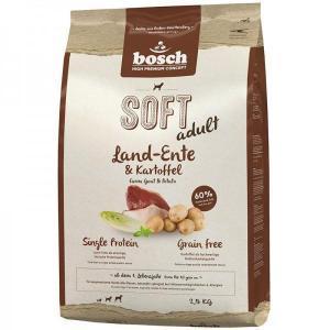 Bosch Soft утка картофель полувлажный корм Holistic+ для взрослых собак с чувствительным пищеварением 12,5 кг