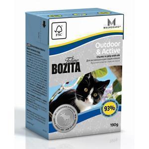 Bozita Feline Funktion Outdoor & Active консервы для активных кошек с мясом лося 190 г
