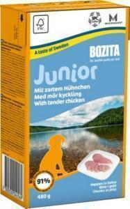 Bozita Junior кусочки в желе консервы для щенков с курицей 480 г