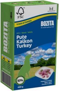 Bozita кусочки в желе консервы для собак с индейкой 480 г