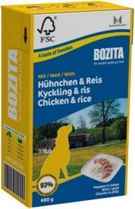 Bozita кусочки в желе консервы для собак с курицей и рисом 480 г