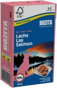 Bozita кусочки в желе консервы для собак с лососем 480 г
