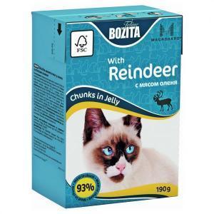 Bozita Mini with Reeinder консервы для кошек с оленем 190 г