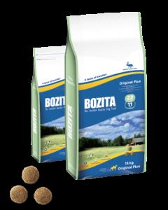 Bozita Original Plus 22/11 сухой корм с олениной для собак с нормальной активностью 12,5 кг