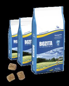 Bozita Young & Fit 24/12 сухой корм с олениной для собак с повышенной активностью 12,5 кг