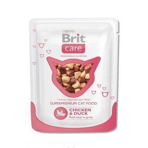 Brit Care Cat Pouches Chicken & Duck консервы для кошек с курицей и уткой 80 г (24 штуки)