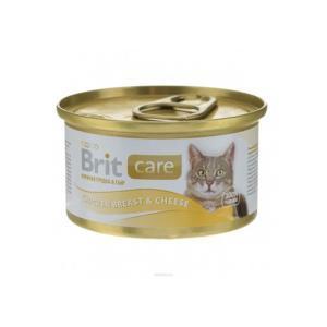 Brit Care Chicken Breast & Cheese консервы для кошек с куриной грудкой и сыром 80 г