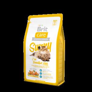 Brit Care Long Hair Salmon & Rice сухой корм для длинношерстных кошек