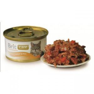Brit Care Tuna, Carrot консервы для кошек с тунцом и морковью 80 г