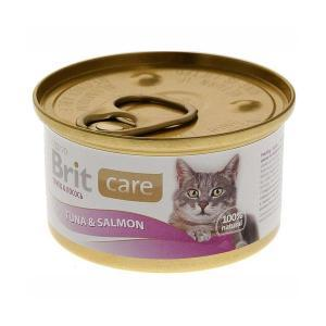 Brit Care Tuna & Salmon консервы для кошек с тунцом и лососем 80 г
