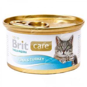 Brit Care Tuna & Turkey консервы для кошек с тунцом и индейкой 80 г