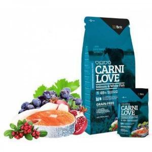 Brit Carnilove Salmon & White Fish сухой корм для взрослых собак с рыбой 12 кг