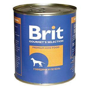 Brit консервы для собак Говядина и печень 850г