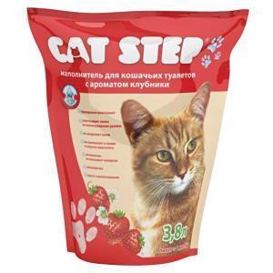 Cat Step наполнитель для кошачьего туалета с ароматом клубники 1,81 кг