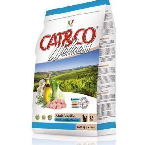 Cat&Co Wellness Adult Sensible Pesce & Riso сухой корм для кошек с рыбой и рисом