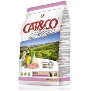 Cat&Co Wellness Kitten Pollo & Riso сухой корм для котят с цыпленком и рисом