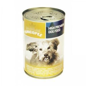 Chicopee Консервы для собак мясные кусочки в соусе с курицей и индейкой 400 г