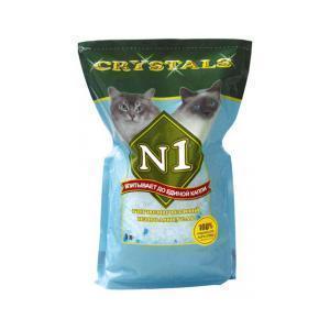 Crystals №1 наполнитель для кошачьего туалета силикагелевый Антибактериальный 5 л