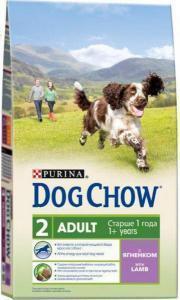 Dog Chow Adult сухой корм для собак Ягненок с рисом 14 кг