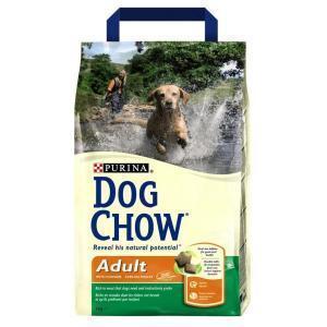 Dog Chow Adult сухой корм для взрослых собак с мясом и рисом 14 кг