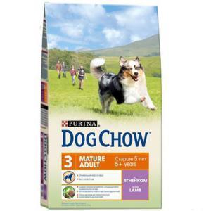 Dog Chow Mature Adult Lamb & Rice сухой корм для собак старше 5 лет с ягненком и рисом 14 кг
