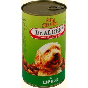 Dr. Alders Гарант консервы для собак с дичью 1240 г (6 штук)