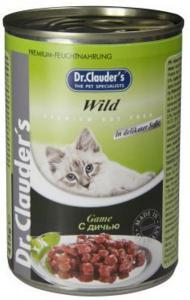 Dr. Clauder`s консервы для кошек с дичью 415г*20шт