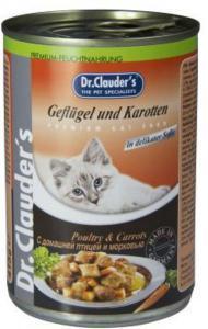 Dr. Clauder`s консервы для кошек с домашней птицей и морковью 415г*20шт