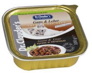 Dr. Clauder`s консервы для кошек с гусем и печенью 100г*32шт