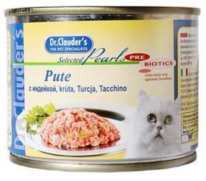 Dr. Clauder`s консервы для кошек с индейкой 200г*12шт